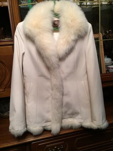 Белая куртка, полушубка. Шикарно в Бишкек