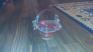 Декор для дома - Кемин: Ваза 2 шт. стеклянный. цена 300 сомов за шт