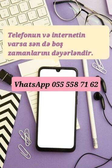 Təlim, kurslar - Azərbaycan: İş haqqında məlumat:●iş saatı 4-6 saat (sizə uyğun saatlarda)●online