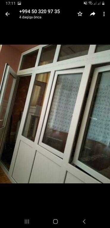 taxta - Azərbaycan: Plastik qapi pencere satiriq, 2,40 uzunluğu 2,90 eni, qiymeti 70manat