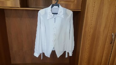 блузки для школы в Кыргызстан: Блузка белая можно в школу размер 42-44