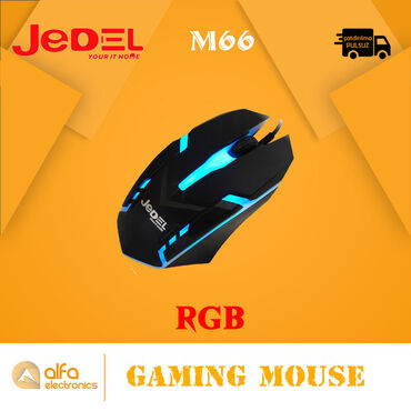 Məhsul: Led Usb Mouse (Işıqlı)İşıqlandırma: RGBBrand : JedelModel