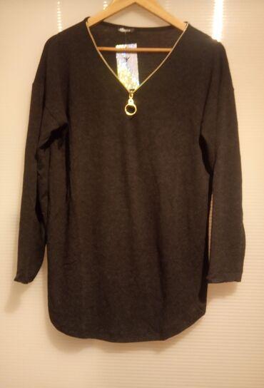Sako crne boje - Srbija: Nova bluza od viskoze sa elastinom, veličine S, M, L, XL.Najtamnija