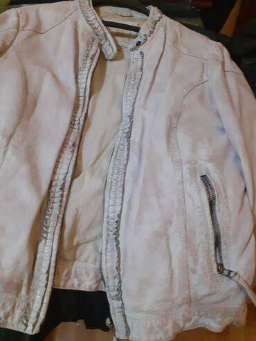 Bela kozna NOVA jakna.Velicina M