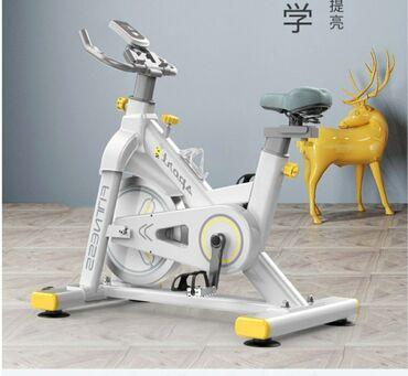 Велотренажер спин-байк, современный стиль, низкий уровень шум
