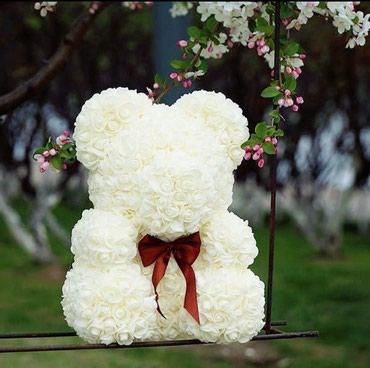 Мишка из роз мишки из роз цена 600 сом подарок для любимой девушке на