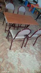 Xırdalan şəhərində Kafe ucun stol stul  stullar 15 azn dan masalar 40 azn dan baslayir.