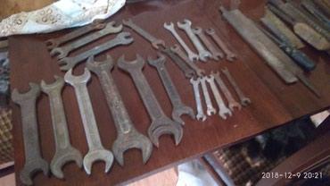Ключи гаечные рожковые разного диаметра в Bakı