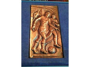 Sportska plaketa fudbal, 5,5x11 cm - Majdanpek