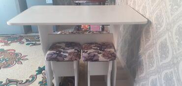 Кухонный стол,табуретка сатылат