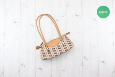 Жіноча сумка з короткими ручками    Колір бежевий Висота 12 см Ширина