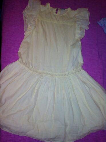 Duga haljina - Srbija: Haljina za devojcice, zuta boja, broj 11-12 godina (160cm), BENETTON