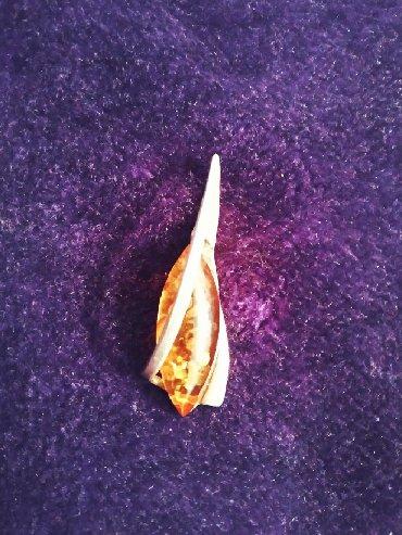 Серебряную колечку и сережку - Кыргызстан: Серебряный кулон с янтарем. Ручная работа. Привезли из Калининграда