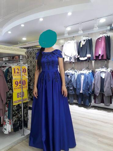 бу вечернее платье размер 46 в Кыргызстан: Размер 46. Бир жолу кийилген почти новый