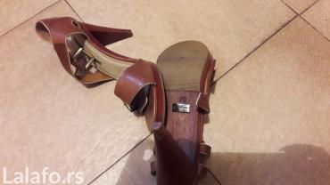 Mathori london - Srbija: Braon sandale, stikla 9 cm, br. 40, buffalo london