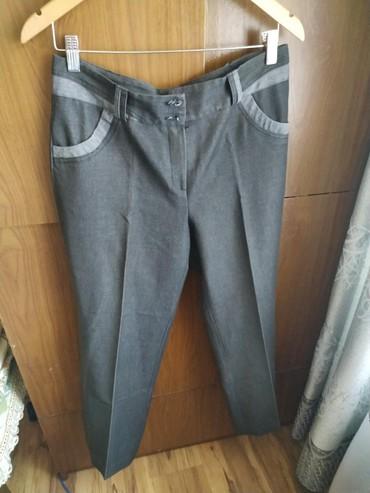 мужские черные брюки в Кыргызстан: Женские брюки 48р. Обхват талии 80 см. Длина брюк 99 см