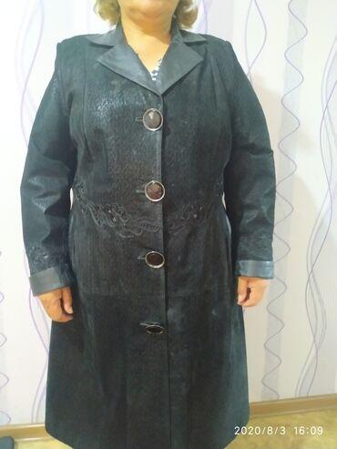 Женские пальто в Бишкек: Пальто, осень весна 54 размер, одели 3 раза, брали за 10000,турция