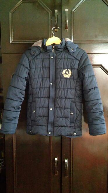 зимние развлечения в Азербайджан: Зимняя куртка для мальчика 6-8лет