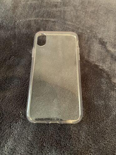 Прозрачный чехол на iPhone x Почти новый хорошего качества