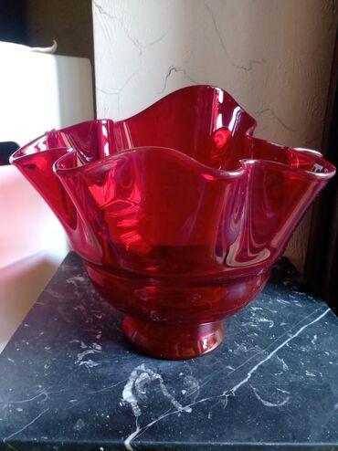 Vaza nova za voce i sl. staklena. Najvisi deo. 22cm. najnizi