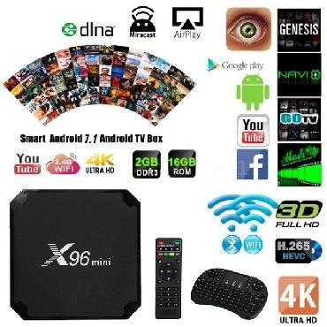 TV/video üçün aksesuarlar - Azərbaycan: Smart Box X96 Mini 2GB/16GB - 65 AZNBütün növ televizorlara qoşulması
