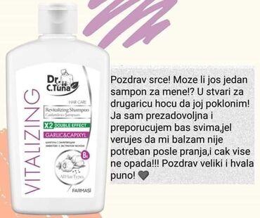 BELI LUK Da li ste probali naš čuveni šampon beli luk . ?Šampon -