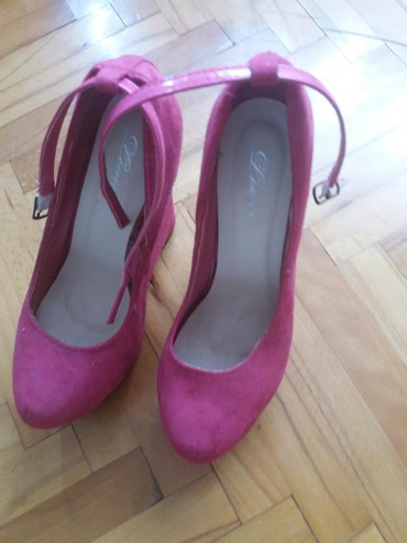 Cipele na platformu antilop pink 39 broj bez ostecenja - Kursumlija - slika 3