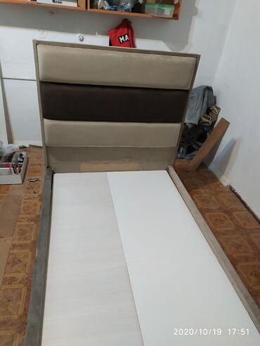 Односпальные кровати - Кыргызстан: Новая кровать мягкая. Турецкая ткань. ДСП поролон Россия
