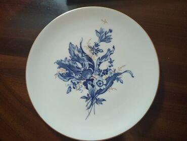 Другие предметы коллекционирования - Азербайджан: Декоративная тарелка на стену фирмы Мейсен Германия