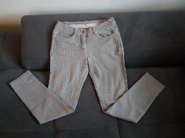Pantalone-helanke-tamno-borda-bojaa - Srbija: Helanke / pantalone, pepito šara. S veličina