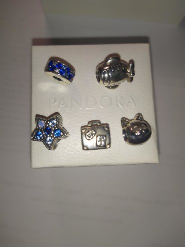 Σύμβολα PANDORA από ασήμι 925. Υπάρχουν 3 σύμβολα κ 1 clips ασφαλειας