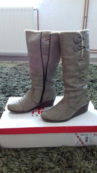 Rieker kozne cizme br. 40 izuzetno tople i kvalitetne sa manjim - Lajkovac