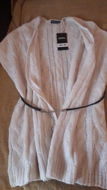 Nov potpuno beli kardinger sa etiketom veličina 2XS prelep meni velik - Kikinda