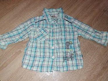 Karirana košulja za dečake, veličina 80,marka OKAY, pamučna, mekana