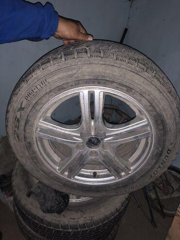 диски купить в Кыргызстан: Продаю диски Zack вместе с шинами Dunlop Диски: разбалтовка 5/100 Шины