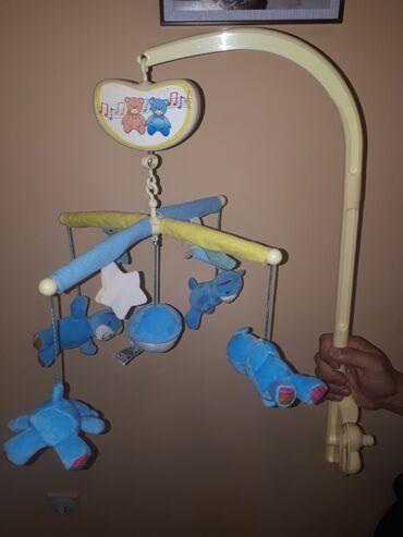 Muski ves - Srbija: Biba Toys-muzička vrteška za krevetac-veseli medvedići.Bez kutije,kao