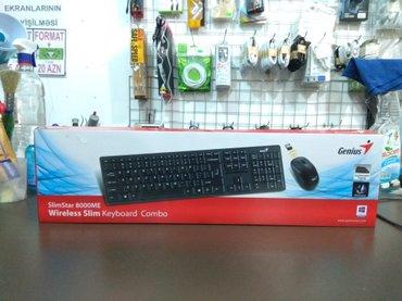 Bakı şəhərində Model: Genius Slimstar 8000MENaqilsiz klaviatura və mouse, 2 in 1Y