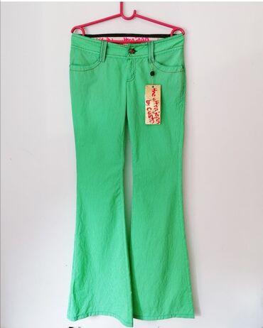 Custo nove pantalone.Vel 36.Plitak model dugih nogavica, idu blago u