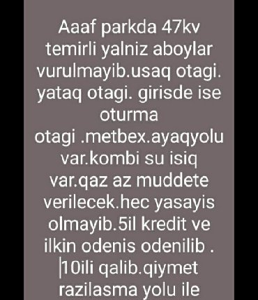 afcarka-balasi-satilir - Azərbaycan: Mənzil satılır: 2 otaqlı, 47 kv. m