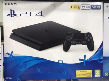 Playstation 4 slim 500 gb . Yenidir . Bağlı karopkada . Zəmanətlə mağa
