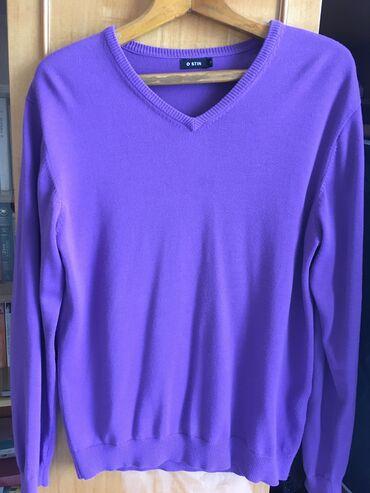 Кофта мужская OSTIN. Фиолетовая. Размер 48 M