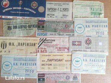 Partizan - Srbija: Karte partizan