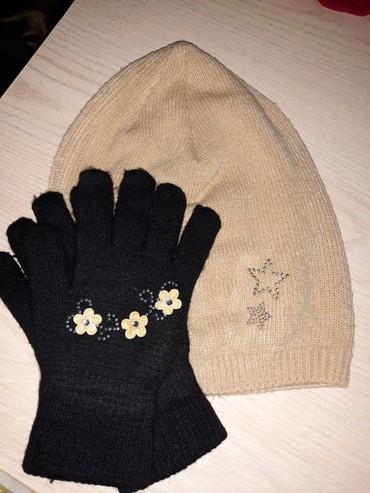 Шапку-для-девочки - Кыргызстан: Шапочка и перчатки. для девочки в отличном состоянии. 500