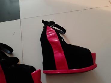 Sandale veoma udobne pink crne brojevi 36 37 i 38 - Backa Palanka