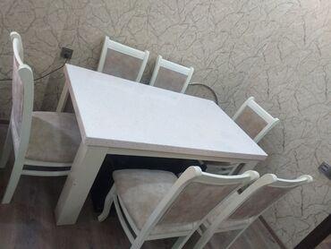 aaaf park obyekt satilir in Azərbaycan   KOMMERSIYA DAŞINMAZ ƏMLAKININ SATIŞI: Satılır qonağ otağı üçün stol-stul dəsdi. Stol 160×90 mərmərdəndir