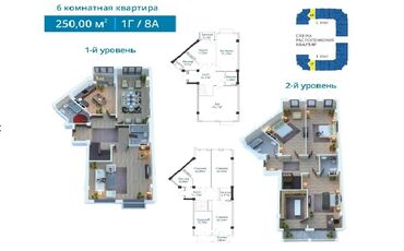 english courses в Кыргызстан: Продается квартира: 6 комнат, 250 кв. м