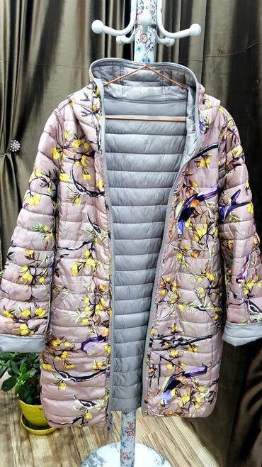 Лёгкая двух сторонная курточка на 52 размер. Б/у