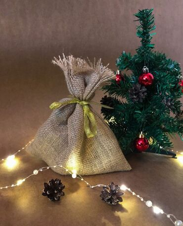 Мешочки для подарков  25х25 см  Упаковка 10 шт 300 сом  Мешковина