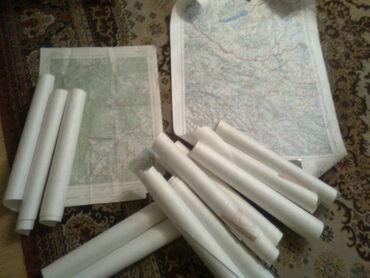 Motorola startac 70 - Srbija: Prodajem stare vojne topografske karte sa slike, 10 komada, iz perioda
