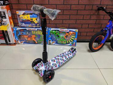 Детский трёхколёсный складной, самокат премиум качество. TechTeam